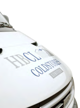 View of the HBCL van bonnet with logo